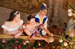 Chatsworth House Press Launch -  Dancers from The Claire Dobinson School of Dancing based in Darley Dale, Matlock, Derbyshire, Daisy Edwards as Clara, Alice Rathbone as the Sugar Plumb Fairy and Ben Jones as the Nutcracker<br /> <br />   04 October 2016<br />   Copyright Paul David Drabble<br />   www.pauldaviddrabble.photoshelter.com