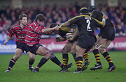 Gloucester, Gloucestershire, UK., 04.01.2003, Wasp's Craig DOWD, held up, during, Zurich Premiership Rugby match, Gloucester vs London Wasps,  Kingsholm Stadium,  [Mandatory Credit: Peter Spurrier/Intersport Images],