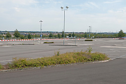 ©Licensed to London News Pictures 16/09/2020  <br /> Ebbsfleet, UK. The car park site. Ebbsfleet international Covid 19 testing site has closed suddenly in Ebbsfleet, Kent.<br /> The site will now be used for Boris Johnson's Government Brexit plan as HMRC require the site for EU exit. Its believed the site will be a lorry park for freight heading to Dover. Photo credit:Grant Falvey/LNP