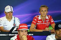 Max Chilton (GBR) Marussia F1 Team in the FIA Press Conference.<br /> Italian Grand Prix, Thursday 4th September 2014. Monza Italy.
