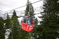Ski lift from Grindelwald to Mannlichen - Swiss Alps - Switzerland