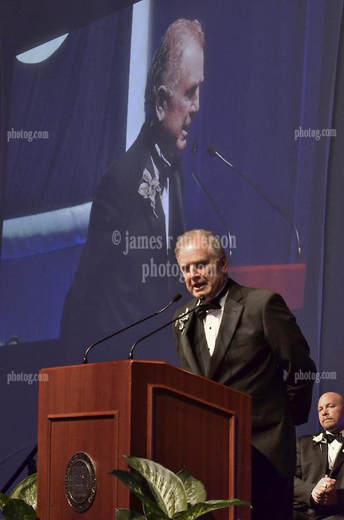 Benjamin Balme '61, Honoree. Blue Leadership Awards 2011, Yale University Athletics. Ball and Awards Presentation, Lanman Center, Payne Whitney Gymnasium.