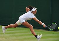 Tennis - 2019 Wimbledon Championships - Week Two, Wednesday (Day Nine)<br /> <br /> Girls's Singles, Quarter-Final: Emma Navarro (USA) v Katrina Scott (USA)<br /> <br /> Katrina Scott on  Court 7.<br /> <br /> COLORSPORT/ANDREW COWIE