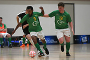 Central player Sauele Soromon makes a break in the Mens Futsal Superleague match, Central v Capital, Pettigrew Green Arena, Napier, Saturday, September 28, 2019. Copyright photo: Kerry Marshall / www.photosport.nz