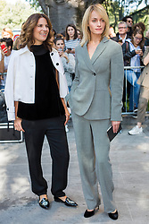 Guests arrival at the Giorgio Armani Fashion Show during the Milan Fashion Week 2017 on September 22, 2017. 22 Sep 2017 Pictured: Roberta Armani (L) and Amber Valletta (R) at the Giorgio Armani Fashion Show during the Milan Fashion Week 2017 on September 22, 2017. Photo credit: Stefano Costantino / MEGA TheMegaAgency.com +1 888 505 6342