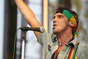 MANU CHAO Radio Bemba Sound System performs during the second day of the 2007 Bonnaroo Music & Arts Festival on June 15, 2007 in Manchester, Tennessee. The four-day music festival features a variety of musical acts, arts and comedians..Photo by Bryan Rinnert.