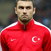 Turkey's Burak Yilmaz during their UEFA Euro 2016 qualification Group A soccer match Turkey betwen Kazakhstan at AliSamiYen Arena in Istanbul November 16, 2014. Photo by Kurtulus YILMAZ/TURKPIX