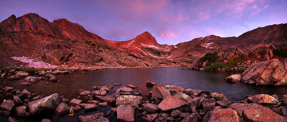 Blue Lake and Mount Toll, Indian Peaks Wilderness.