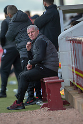 Dumbarton's Assistant Manager Ian Durrant. Arbroath 3 v 1 Dumbarton, Scottish Football League Division One played 20/10/2018 at Arbroath's home ground, Gayfield Park.