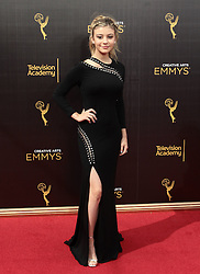 . G Hannelius   attends  2016 Creative Arts Emmy Awards - Day 1 at  Microsoft Theater on September 10th, 2016  in Los Angeles, California.Photo:Tony Lowe/Globephotos