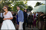 ZADIE SMITH; NICK LAIRD, 2014 Serpentine's summer party sponsored by Brioni.with a pavilion designed this year by Chilean architect Smiljan Radic  Kensington Gdns. London. 1July 2014