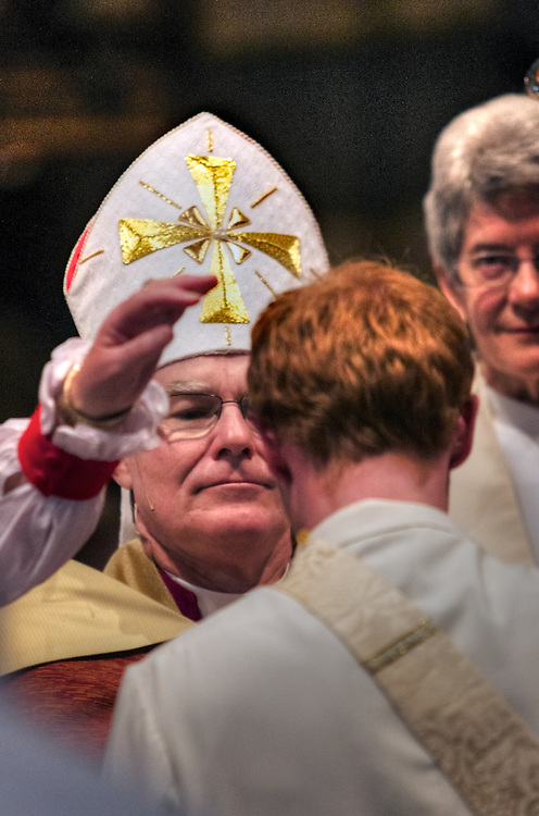 Anglican Archbishop of Melbourne, Dr Philip Freier ordains 20 men and women as Anglican priests at 11am on Saturday 26 November in St Paul's Cathedral, Melbourne. Pic By Craig Sillitoe CSZ/The Sunday Age.26/11/2011 melbourne photographers, commercial photographers, industrial photographers, corporate photographer, architectural photographers, This photograph can be used for non commercial uses with attribution. Credit: Craig Sillitoe Photography / http://www.csillitoe.com<br /> <br /> It is protected under the Creative Commons Attribution-NonCommercial-ShareAlike 4.0 International License. To view a copy of this license, visit http://creativecommons.org/licenses/by-nc-sa/4.0/.