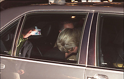 File photo taken on August 31, 1997 - Princess Diana and Dodi Al Fayed going to the Ritz hotel just few hours before they died in a car crash under Alma tunnel in Paris. Princess Diana died on August 31 1997 after suffering fatal injures in a car crash in the Pont de l'Alma road tunnel in Paris. Her companion Dodi Fayed and driver and security guard Henri Paul were also killed in the crash. Photo by ABACAPRESS.COM