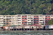 Water Village in Kampung Buli Sim Sim in front of apartment blocks, Sandakan, Sabah