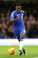 Baba Rahman of Chelsea passing the ball. Barclays Premier league match, Chelsea v AFC Bournemouth at Stamford Bridge in London on Saturday 5th December 2015.<br /> pic by John Patrick Fletcher, Andrew Orchard sports photography.