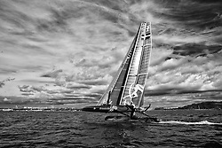 Artemis Racing wins the match race qualifiers with a 1,1,2 score for the day. September 14th 2011, AC45 World Series Plymouth.