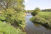 River Deben meandering in its flood plain, Rendlesham, Suffolk, England