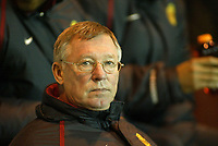 The FA Barclays Premiership<br />1 January 2005, The Riverside, Stadium, Middlesbrough<br />Middlesbrough v Manchester United<br />Manchester United's manager Sir Alex Ferguson guided his side to an impressive 2-0 win at Middlesbrough despite missing key players<br />Pic Jason Cairnduff/Back Page Images