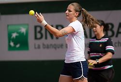 May 23, 2019 - Paris, FRANCE - Karolina Pliskova of the Czech Republic during practice at the 2019 Roland Garros Grand Slam tennis tournament (Credit Image: © AFP7 via ZUMA Wire)