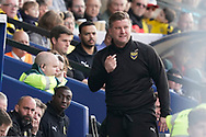 Oxford United manager Karl Robinson during the EFL Sky Bet League 1 match between Oxford United and Wycombe Wanderers at the Kassam Stadium, Oxford, England on 30 March 2019.