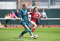 Chloe Arthur of Bristol City Women keeps the pressure on Anna Moorhouse of Arsenal Ladies - Mandatory by-line: Paul Knight/JMP - 20/05/2018 - FOOTBALL - Stoke Gifford Stadium - Bristol, England - Bristol City Women v Arsenal Ladies - FA Women's Super League 1