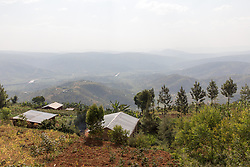 Scenic View Of Villages From Mountain Road