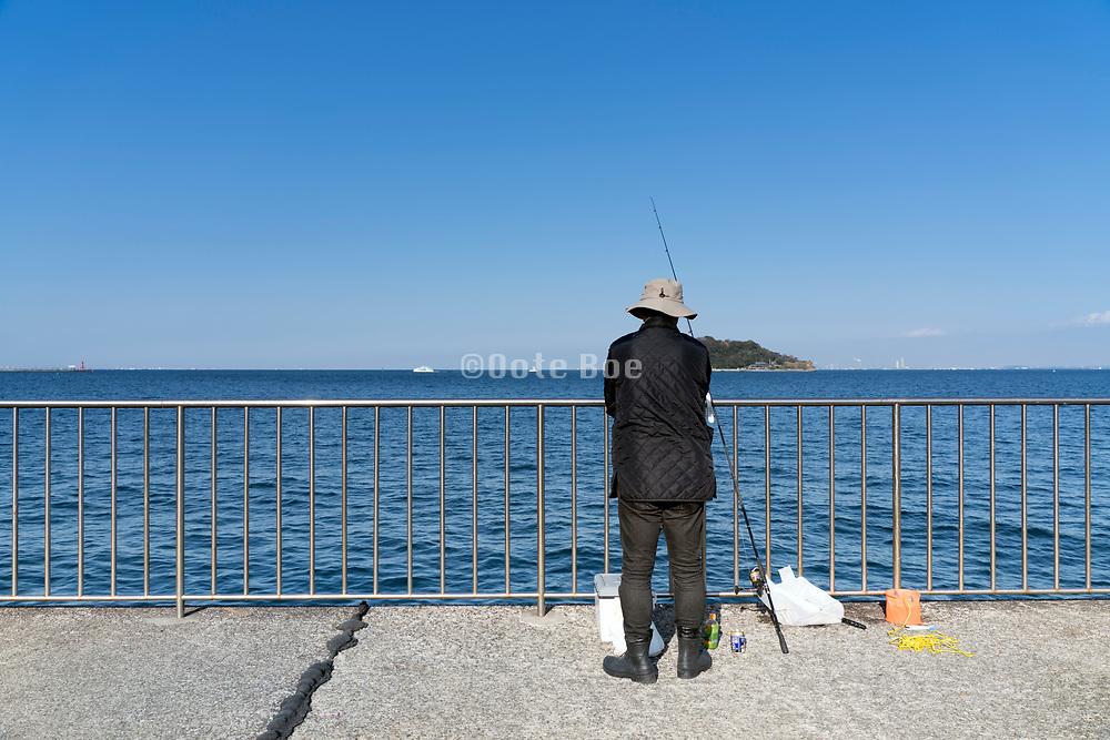 people fishing Tokyo-bay Yokosuka