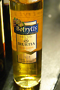 Bottle of Botrytis Cosecha Tardia Late Harvest Irurtia Partida Limitada sweet white wine made with noble rot. Catad'Or of Uruguay, Montevideo, Uruguay, South America