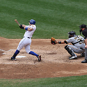 David Wright hits a three run homer during R.A. Dickey pitching his 20th win of the season during the New York Mets v Pittsburgh Pirates regular season baseball game at Citi Field, Queens, New York. USA. 27th September 2012. Photo Tim Clayton