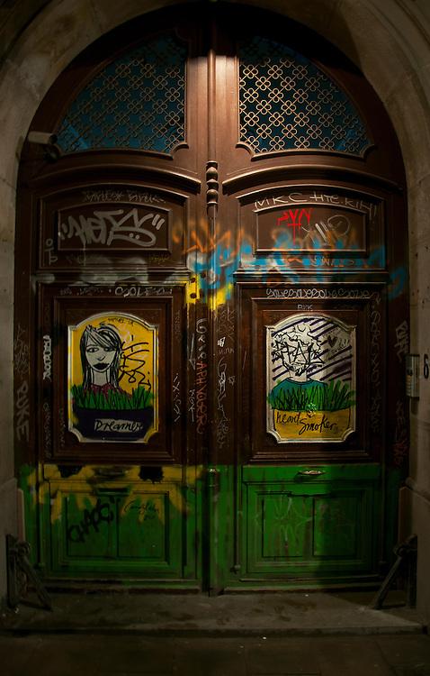 Street graffiti in Barcelona.