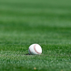 Feb 27, 2013; Lakeland, FL, USA; A detail of a baseball on the field before a spring training game between the Detroit Tigers and the Atlanta Braves at Joker Marchant Stadium. Mandatory Credit: Derick E. Hingle-USA TODAY Sports