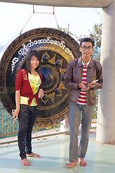 Travelers Enjoying Mount Popa & Popa Taungkalat Monastery