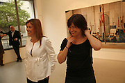 Louise and Jane Wilson, Jane and Louise Wilson,-'The New Brutalists' Lisson Gallery. Bell st. Collectors opening. 15 May 2006.  ONE TIME USE ONLY - DO NOT ARCHIVE  © Copyright Photograph by Dafydd Jones 66 Stockwell Park Rd. London SW9 0DA Tel 020 7733 0108 www.dafjones.com