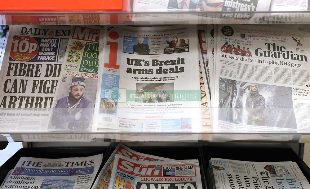 File photo dated 15/01/18 of the i newspaper on sale at a shop in London. The future of newspapers previously owned by Johnston Press have been secured after they were acquired by a newly formed company called JPIMedia, a spokesman said.