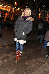 POPPY DELEVINGNE at the opening of the 2012 Winter Wonderland, Hyde Park on 22nd November 2012.