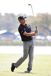 March 15, 2019 - Ponte Vedra Beach, FL, U.S. - PONTE VEDRA BEACH, FL - MARCH 15: Kevin Kisner of the United States plays a shot on the 18th hole during the second round of THE PLAYERS Championship on March 15, 2019 on the Stadium Course at TPC Sawgrass in Ponte Vedra Beach, Fl.  (Photo by David Rosenblum/Icon Sportswire) (Credit Image: © David Rosenblum/Icon SMI via ZUMA Press)