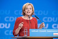 26 FEB 2018, BERLIN/GERMANY:<br /> Julia Kloeckner, CDU Landesvorsitzende Rheinland-Pfalz, CDU Bundesparteitag, Station Berlin<br /> IMAGE: 20180226-01-134<br /> KEYWORDS: Party Congress, Parteitag, Julia Klöckner
