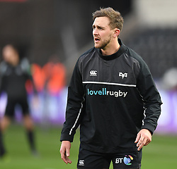 Ospreys' Ashley Beck Pre match warm up<br /> <br /> Photographer Mike Jones/Replay Images<br /> <br /> Guinness PRO14 Round Round 16 - Ospreys v Cheetahs - Saturday 24th February 2018 - Liberty Stadium - Swansea<br /> <br /> World Copyright © Replay Images . All rights reserved. info@replayimages.co.uk - http://replayimages.co.uk