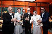 Alain Ducasses French-born Monegasque chef, Patrick Jouin, fanjet manku in cocktail session during Melco Morpheus building Opening in Macau, China, on 14 June 2018. Photo by Lucas Schifres
