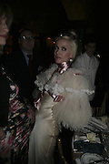 Daphne Guinness,  Charles Finch and Chanel 7th Anniversary Pre-Bafta party to celebratew A Great Year of Film and Fashiont at Annabel's. Berkeley Sq. London W1. 10 February 2007. -DO NOT ARCHIVE-© Copyright Photograph by Dafydd Jones. 248 Clapham Rd. London SW9 0PZ. Tel 0207 820 0771. www.dafjones.com.