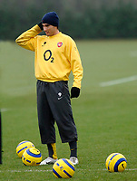 Photo: Daniel Hambury.<br />Arsenal Training Session. 06/12/2005.<br />Jose Antonio Reyes during training ahead of tomorrows Champions League game against Ajax.