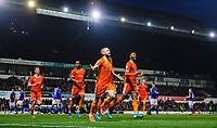 Blackpool's Jay Spearing celebrates scoring his side's second goal<br /> <br /> Photographer Chris Vaughan/CameraSport<br /> <br /> The EFL Sky Bet League One - Ipswich Town v Blackpool - Saturday 23rd November 2019 - Portman Road - Ipswich<br /> <br /> World Copyright © 2019 CameraSport. All rights reserved. 43 Linden Ave. Countesthorpe. Leicester. England. LE8 5PG - Tel: +44 (0) 116 277 4147 - admin@camerasport.com - www.camerasport.com