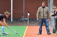 Andre Morees als coach  van Alliance Dames I. COPYRIGHT KOEN SUYK