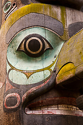 North America, United States, Washington, Seattle, totem pole in Pioneer Square