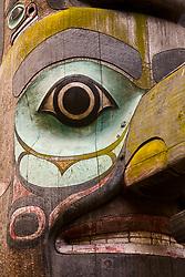North America, United States, Washington, Seattle, totem pole in Pioneer Square