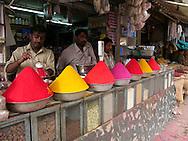 Bindi sales stand at the market of Bangalore