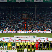 Bursaspor's and Besiktas's players during their Turkish Super League soccer match Bursaspor between Besiktas at the Ataturk Stadium in Bursa Turkey on Sunday, 08 November 2015. Photo by Aykut AKICI/TURKPIX