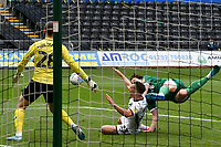 Football - 2019 / 2020 Championship - Swansea City vs Sheffield Wednesday<br /> <br /> Connor Roberts of Swansea City is fouled by 10. conceding a penalty <br /> in a match played with no crowd due to Covid 19 coronavirus emergency regulations, at the almost empty Liberty Stadium.<br /> <br /> COLORSPORT/WINSTON BYNORTH