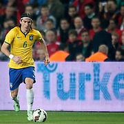 Brazil's Filipe Luis during their a international friendly soccer match Turkey betwen Brazil at Sukru Saracoglu Arena in istanbul November 12, 2014. Photo by Aykut AKICI/TURKPIX