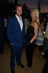 The Johnnie Walker Blue Label and David Gandy Drinks Reception aboard John Walker & Sons Voyager, St.Georges Stairs Tier, Butler's Wharf Pier, London, UK on 16th July 2013.<br /> Picture Shows:-Henry Beckwith, Tamara Beckwith.